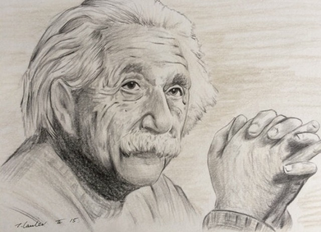 Albert Einstein by TraceyLawler